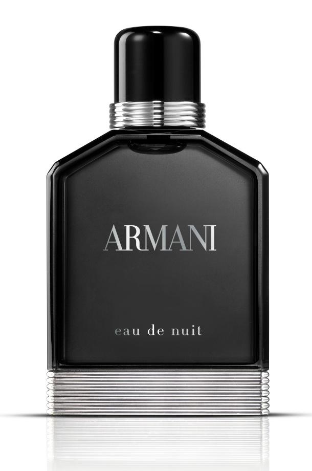 Armani Eau de Nuit Eau de Toilette. La sensualité riche des épices, du tabac et de l'iris.