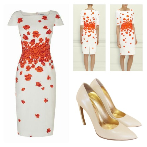 Lasa Poppy Print Dress by L.K Bennett £245.00 Escarpin Walter Steiger