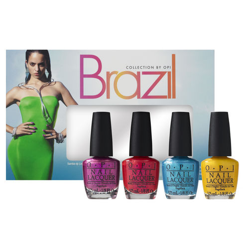 Brazil Liquid Sand Mini Kit de vernis 20,00€ Ce kit contient : - 1 vernis Samba-dy Loves Purple (3,75 ml) - 1 vernis I'm Brazil Nuts Over You (3,75 ml) - 1 vernis What's a Little Rain Forest? (3,75 ml) - 1 vernis You're So Flippy Floppy (3,75 ml).