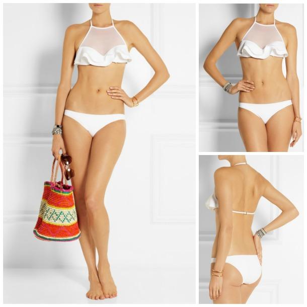 Zimmermann Bikini dos-nu à empiècement en résille Georgia €246