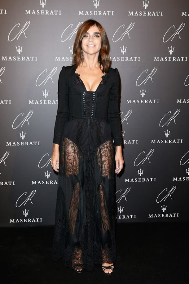 HOST CARINE ROITFELD WORE A GIVENCHY BY RICCARDO TISCI SPRING-SUMMER 2015 OUTFIT TO THE CR FASHION BOOK ISSUE 5 LAUNCH PARTY