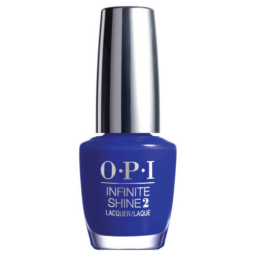 Le vernis Infinite Shine Indignantly Indigo de OPI, 16 € (chez Sephora).